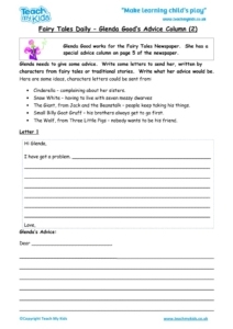 Worksheets for kids - fairy-tales-daily-Glenda-Goods-advice-column-2