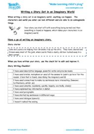 Worksheets for kids - writing-a-story-set-in-an-imaginary-world