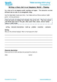Worksheets for kids - writing-a-story-set-in-an-imaginary-world-planning