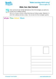 Worksheets for kids - make-your-own-postcard