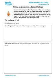 Worksheets for kids - writing-an-expalnation-games-challenge