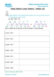 Worksheets for kids - adding-larger-numbers-number-line
