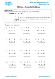 Worksheets for kids - addition,_column_method_htu