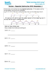 Worksheets for kids - division-repeated-subtraction-with-remainders