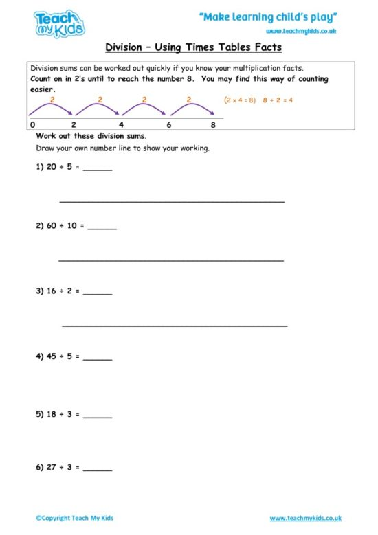 Worksheets for kids - division-repeated-subtraction3