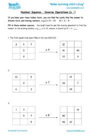 Worksheets for kids - number-squares-inverse-operations-times-divide