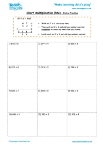 Worksheets for kids - short_multiplication_-_htu_extra