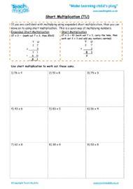 Worksheets for kids - short_multiplication_-_tu