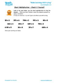 Worksheets for kids - short_multiplication,_check_it_yourself