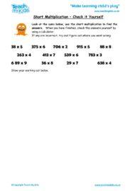 Worksheets for kids - short_multiplication,_check_it_yourself