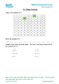 Worksheets for kids - x7_tables