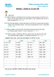 Worksheets for kids - x_and_divide,_10,_100