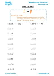 Worksheets for kids - pounds-to-pence