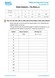 Worksheets for kids - roman_numerals_-_the_basics,_2