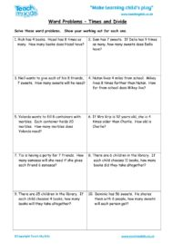 Worksheets for kids - word-problems-times-and-divide