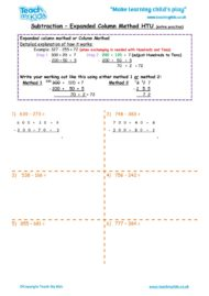Worksheets for kids - subtraction_-column_expanded_htu_extra_practise