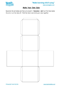 Worksheets for kids - make-your-own-cube