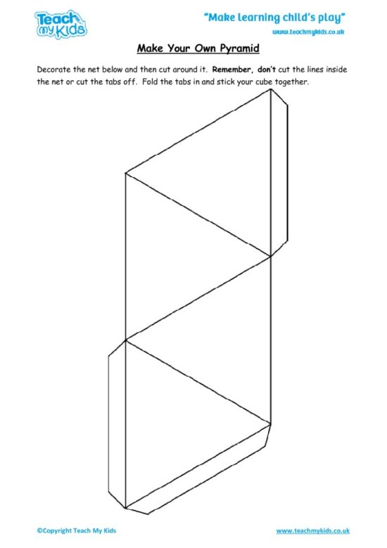 Worksheets for kids - make-your-own-pyramid