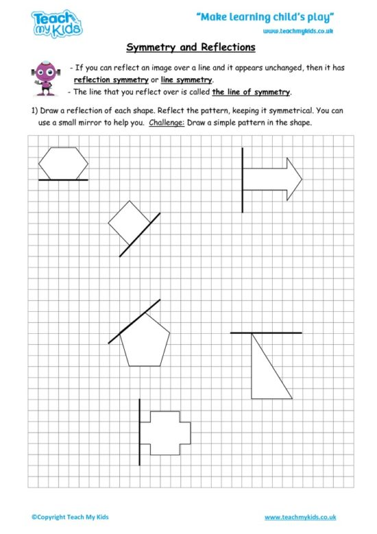 Worksheets for kids - symmetry_and_reflections