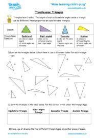 Worksheets for kids - troublesome_triangles