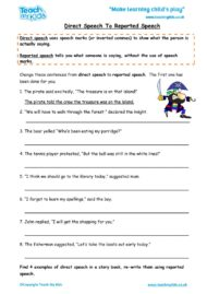 Worksheets for kids - direct-speech-to-reported-speech