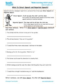 Worksheets for kids - what-is-direct-speech-reported-speech