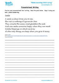 Worksheets for kids - presentational-writing