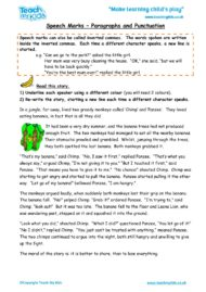 Worksheets for kids - speech-marks-paragraphs-