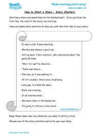 Worksheets for kids - Story-Starters-Idea-to-help-you-get-started