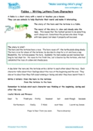 Worksheets for kids - fables-writing-letters-from-characters