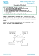 Worksheets for kids - playscripts-tv-advert