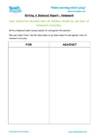 Worksheets for kids - balanced-report-school-homework