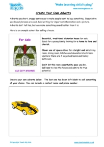 Worksheets for kids - how-to-write-an-advert