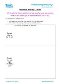 Worksheets for kids - persuasive-writing-letterfor-new-cereal