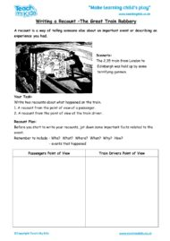 Worksheets for kids - writing-a-recount-train-robbery