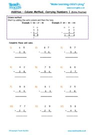 Worksheets for kids - addition-column-carrying-numbers-1-extra