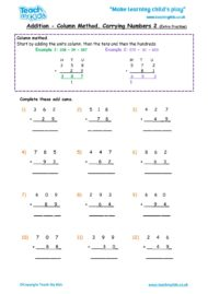 Worksheets for kids - addition-column-carrying-numbers2-extra