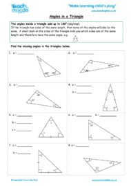 Worksheets for kids - angles-in-a-triangle