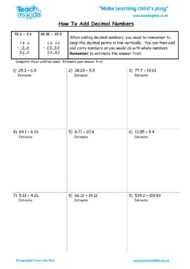 Worksheets for kids - how-to-add-decimal-numbers