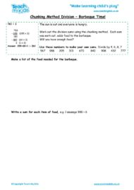 Worksheets for kids - chunking-method-division-barbeque-time