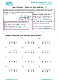 Worksheets for kids - short-division-htu