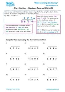 Worksheets for kids - short-division-htu