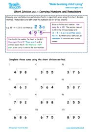 Worksheets for kids - short-division-tu-carrying-and-remainders