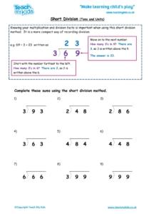 Worksheets for kids - short-division-tu