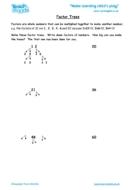 Worksheets for kids - factor-trees