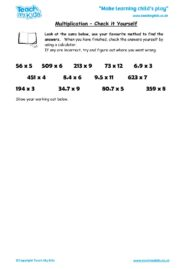 Worksheets for kids - multiplication-check_it_yourself