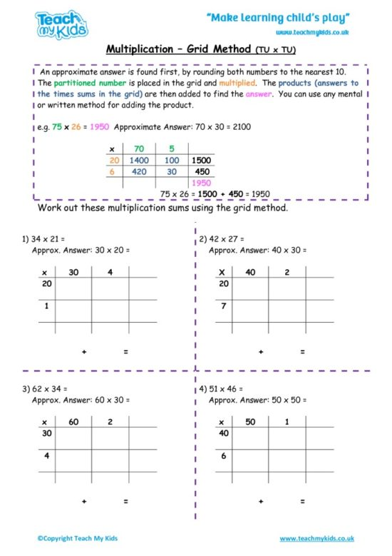 Worksheets for kids - multiplication-grid-method-tu-x-tu