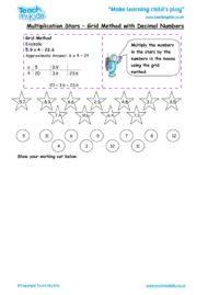 Worksheets for kids - multiplication-stars-grid-method-with-decimal-numbers