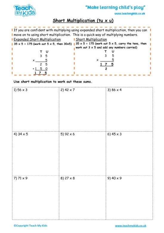 Worksheets for kids - short_multiplication_-_tu_x_u