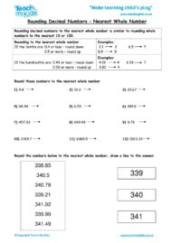 Worksheets for kids - rounding-decimal-numbers-nearest-whole-number
